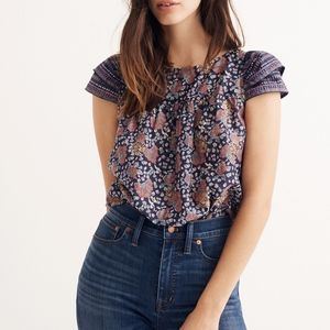 Madewell Story Top in Fan Floral Mix Size 0